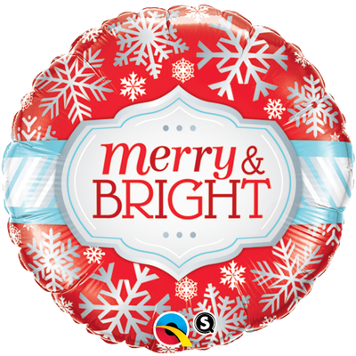 "18"" - Merry & Bright Snowflakes Christmas"