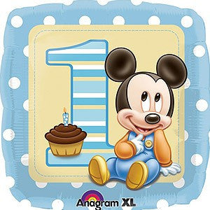 "18"" - Mickey 1st Birthday Boy"