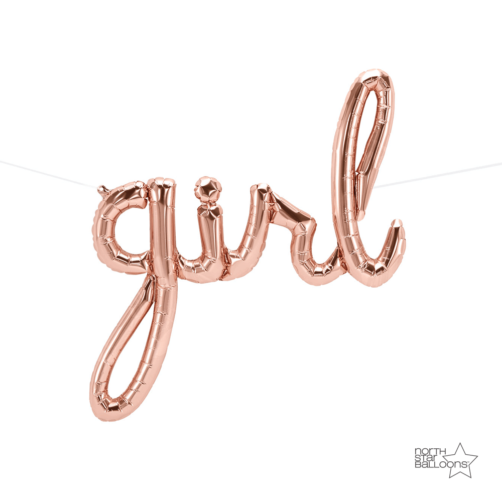 Script - Girl Rose Gold Air Fill Only