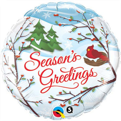 "18"" - Season's Greetings Christmas Red Bird"