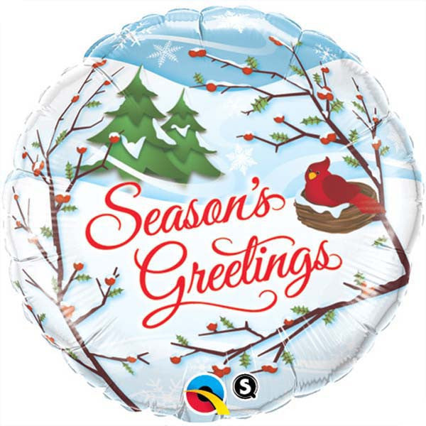 "18"" - Season's Greetings Red Bird"