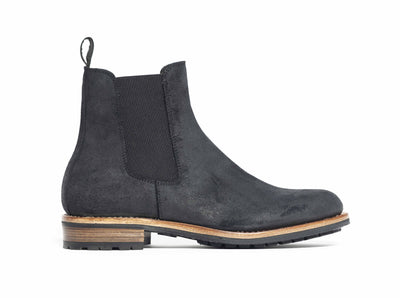 Chelsea Boot - Black Waxed