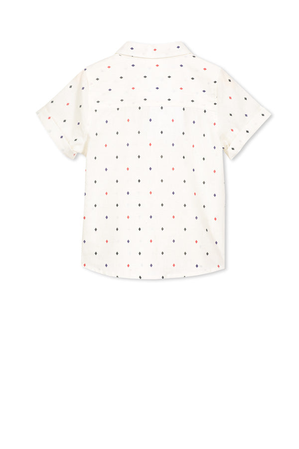 Milky white shirt with print
