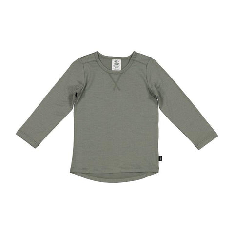 Little Flock of Horrors Wyatt L/S Top Olive