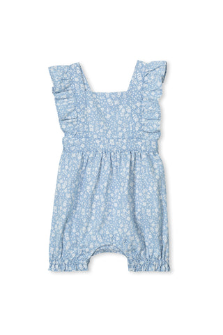Milky Denim Baby Playsuit