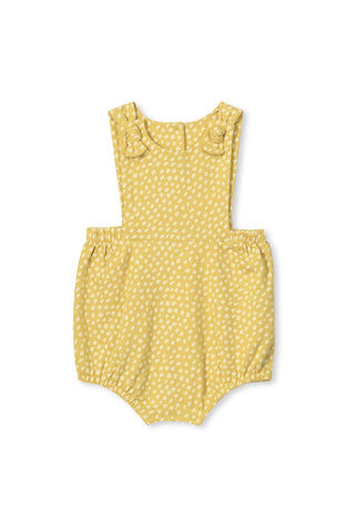 Milky Spot Baby Playsuit Chartreuse