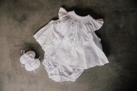 Heirloom Smocked 2 Piece - Snowflake