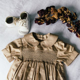 Cotton Gold Heirloom Romper
