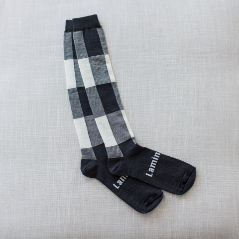Lamington Merino Wool Knee High Socks - Ash