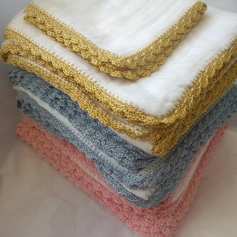 Sweet William Crochet Baby Wash Cloth