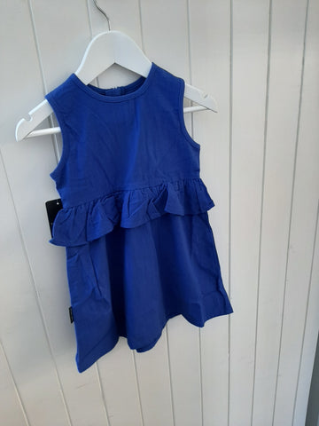 Tiny Tribe Blue Peplum Dress