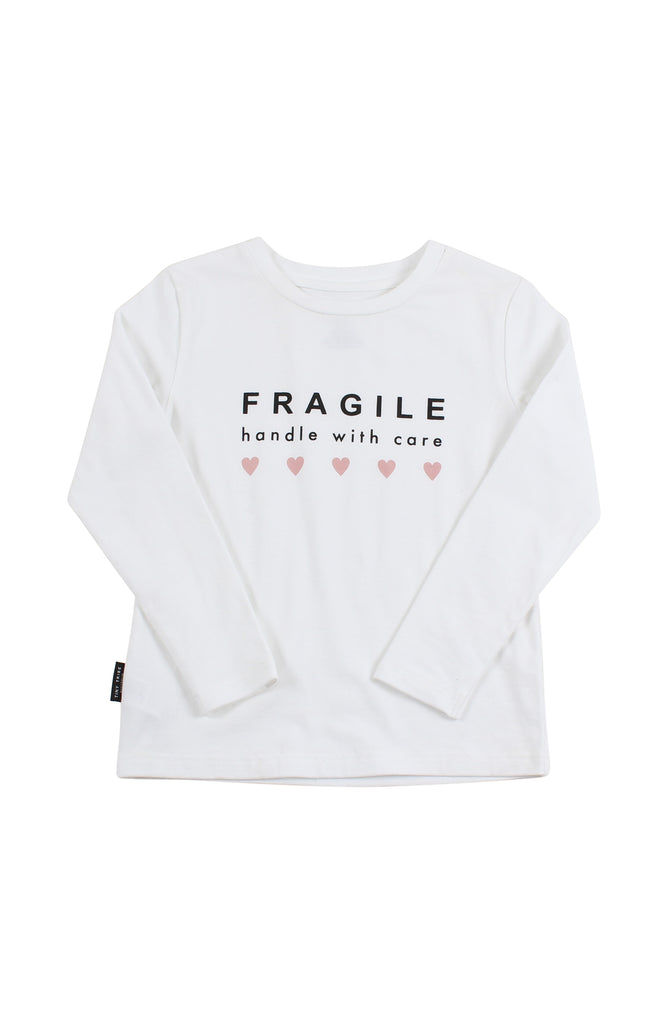 Tiny Tribe Fragile Tee White