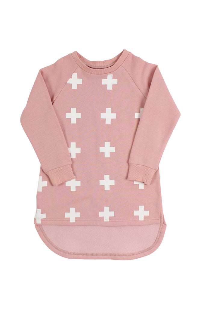 Tiny Tribe Cross Dip Back Tunic Pink