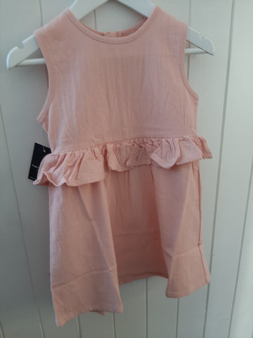 Tiny Tribe Pink Peplum Dress