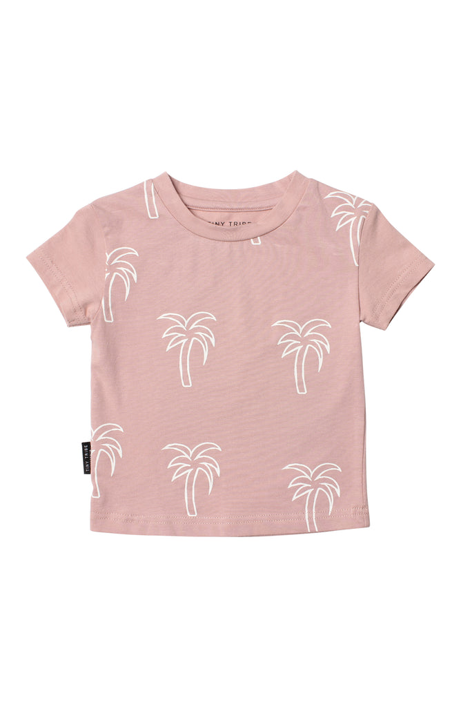 Tiny Tribe Palm Tee Pink