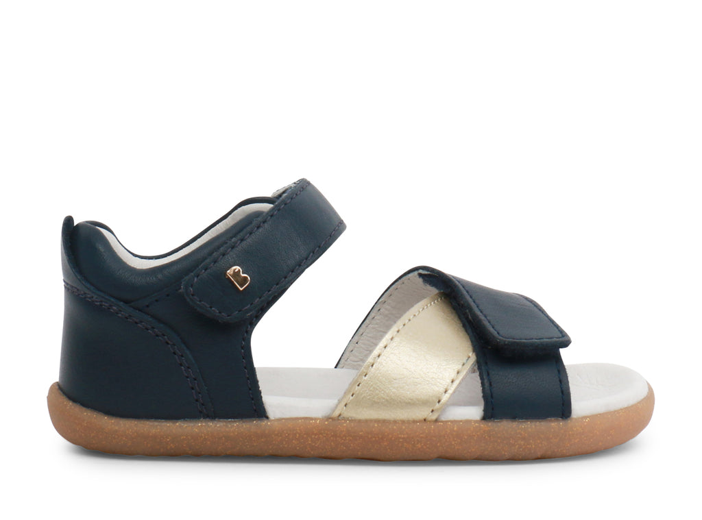 Bobux Step UP Sail Navy and Misty Gold