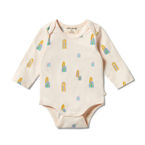 Wilson & Frenchy Organic Envelope Bodysuit - Rainbow Mountains