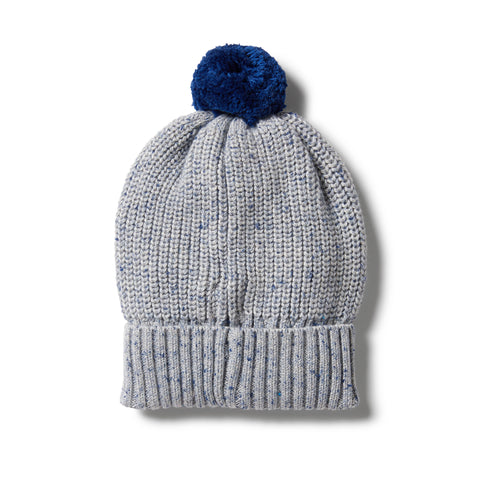 Wilson & Frenchy Knitted Hat - Navy Peony Fleck