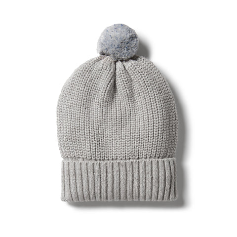 Wilson & Frenchy Knitted Hat - Glacier Grey Fleck