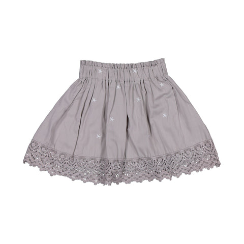 Burrow & Be Grey Star Embroidered Evie Skirt