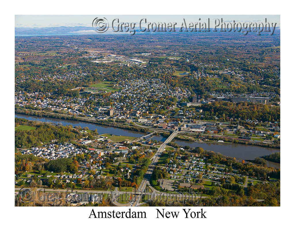 Aerial Photo of Amsterdam, New York