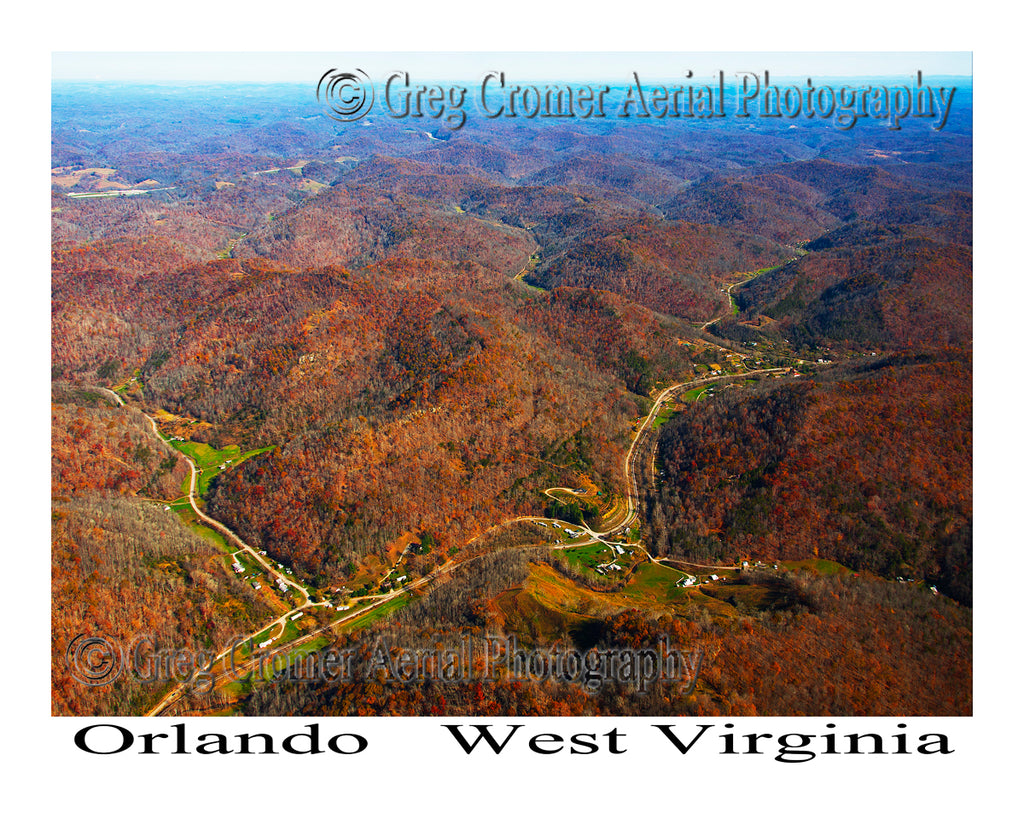 Aerial Photo of Orlando, West Virginia