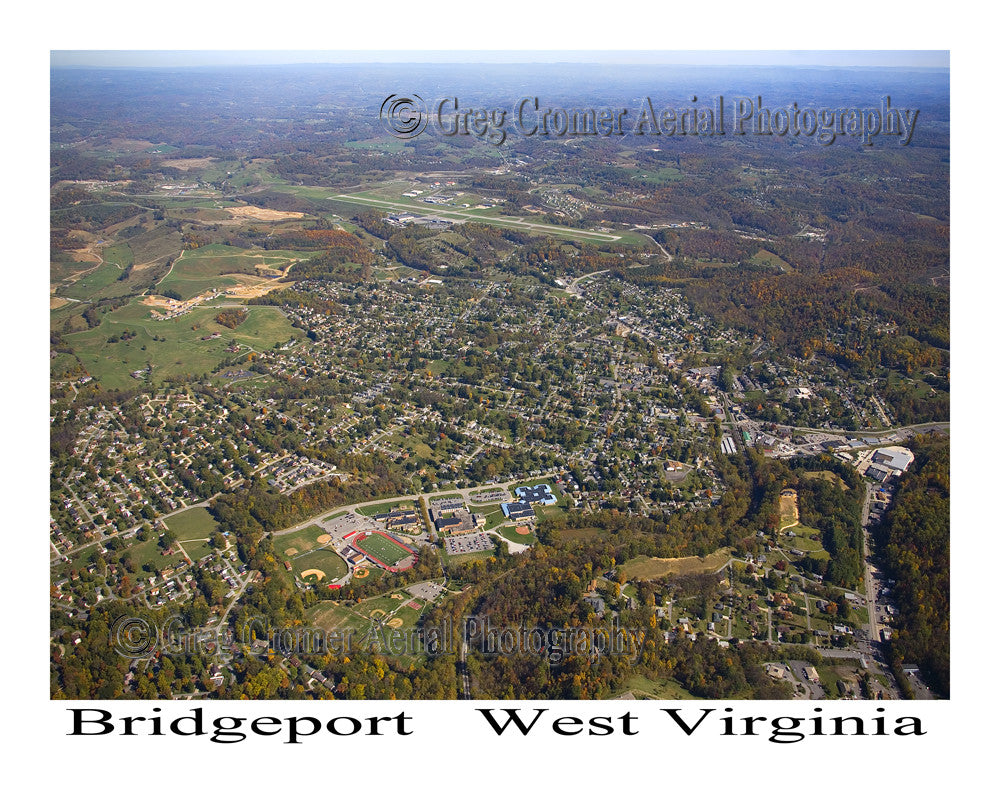 Aerial Photo of Bridgeport, West Virginia