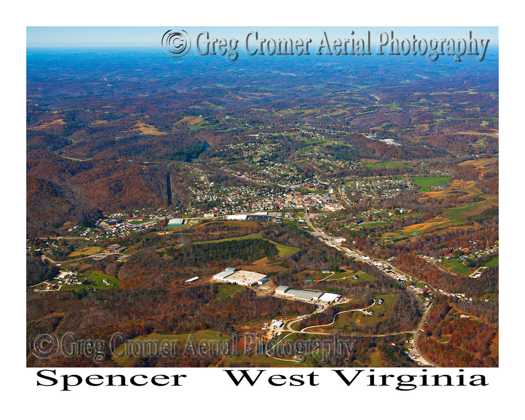Aerial Photo of Spencer, West Virginia
