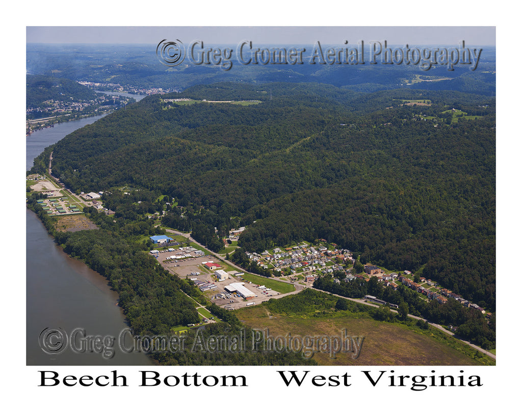 Aerial Photo of Beech Bottom, West Virginia