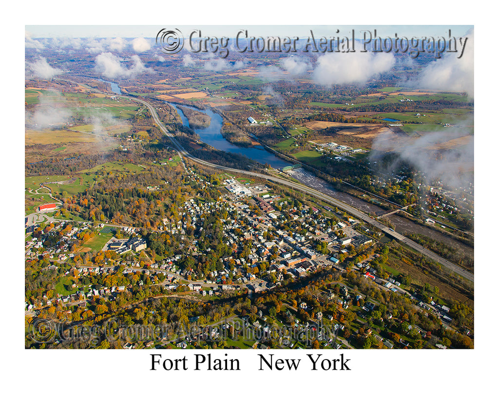 Aerial Photo of Fort Plain, New York
