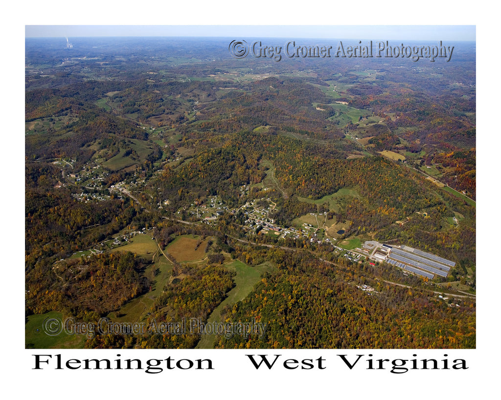Aerial Photo of Flemington, West Virginia