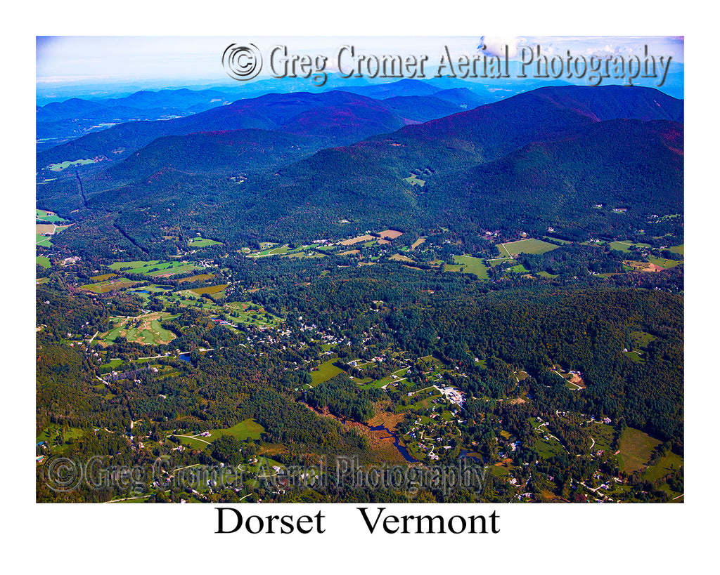 Aerial Photo of Dorset, Vermont