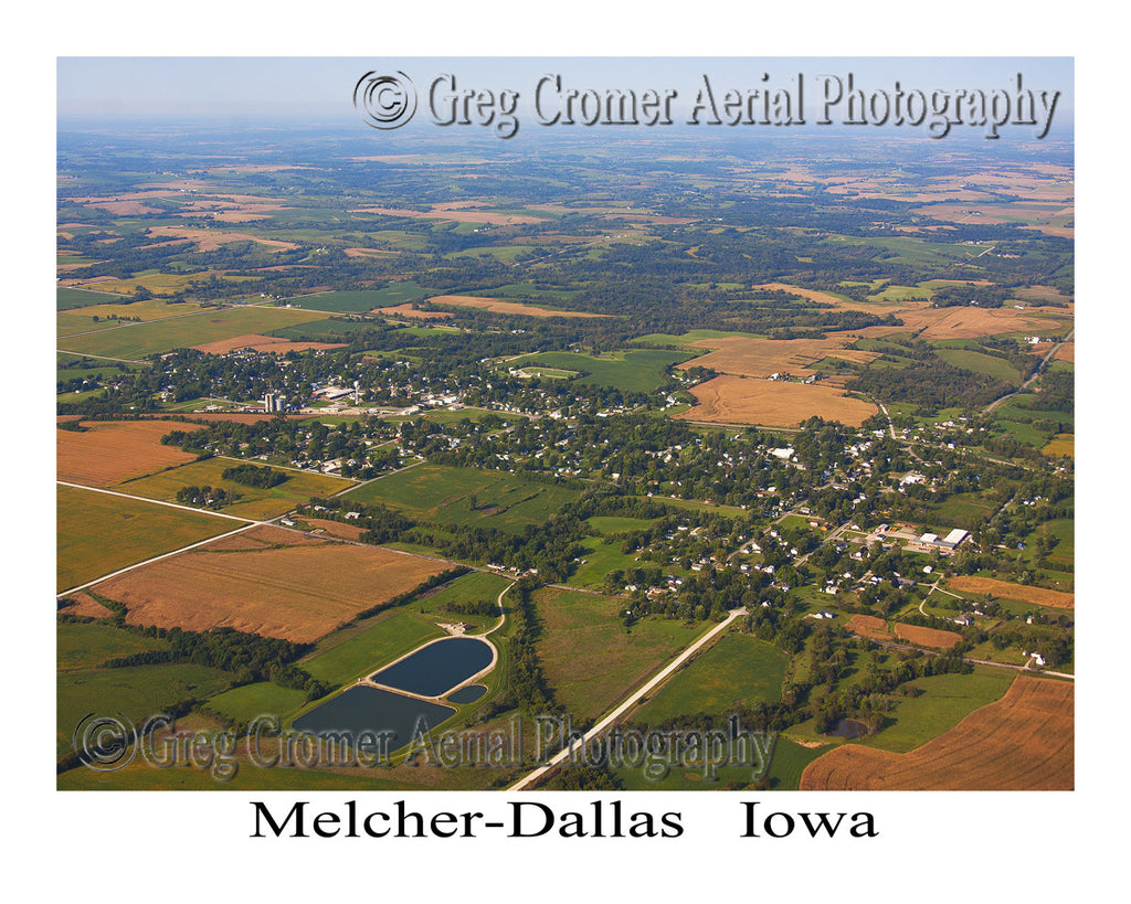 Aerial Photo of Melcher-Dallas Iowa