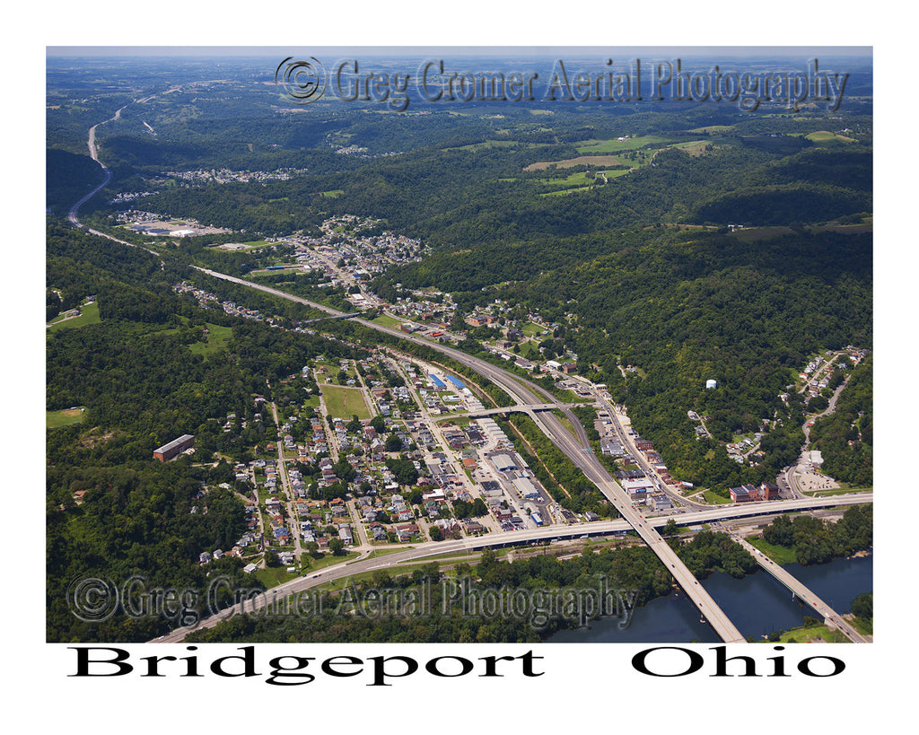 Aerial Photo of Bridgeport, Ohio