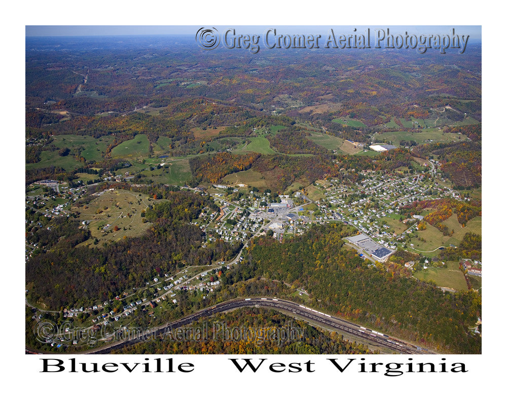 Aerial Photo of Blueville, West Virginia
