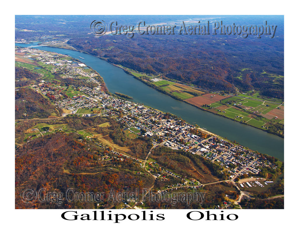 Aerial Photo of Gallipolis, Ohio