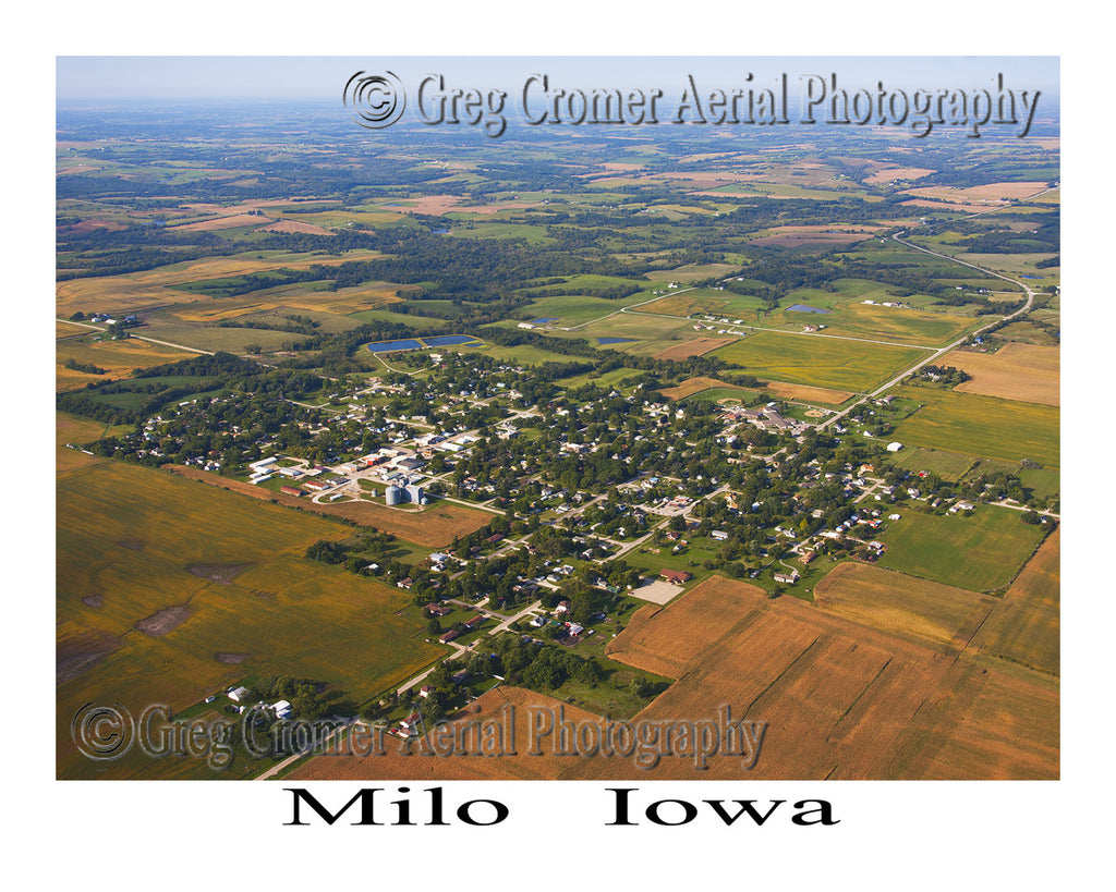 Aerial Photo of Milo Iowa
