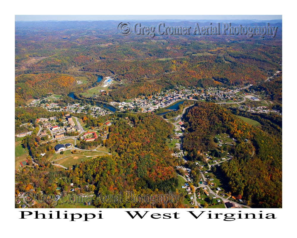 Aerial Photo of Phillipi, West Virginia