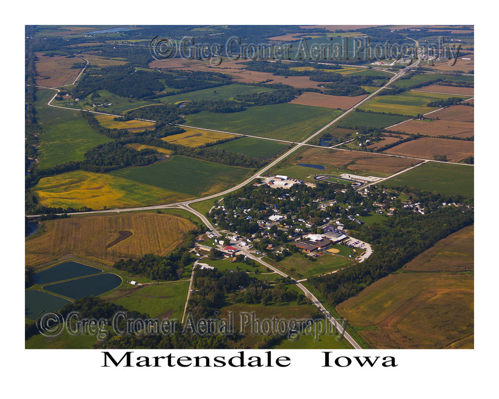 Aerial Photo of Martensdale Iowa