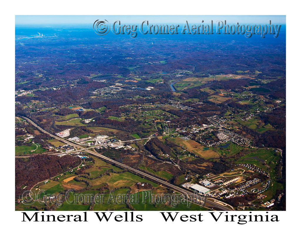 Aerial Photo of Mineral Wells, West Virginia