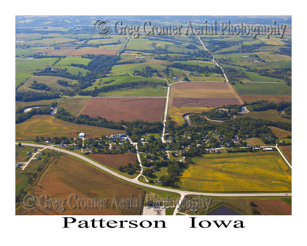 Aerial Photo of Patterson Iowa