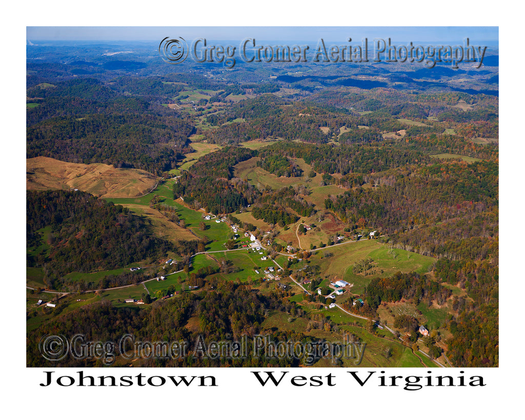 Aerial Photo of Johnstown, West Virginia