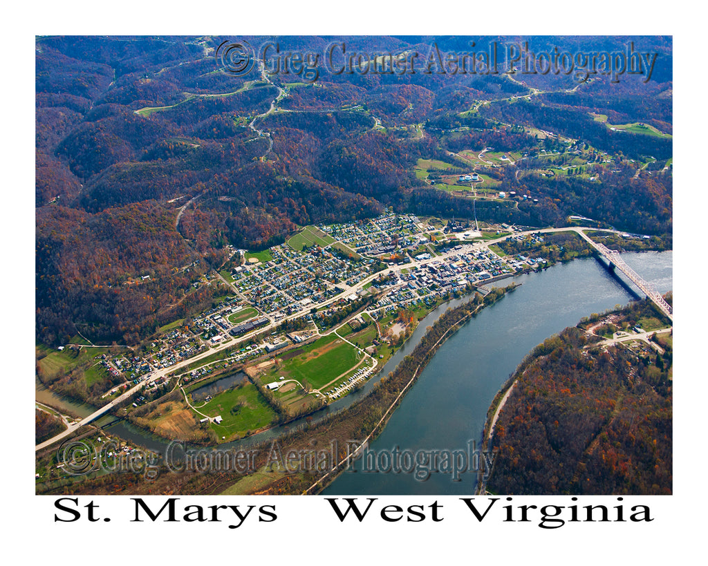 Aerial Photo of St. Marys, West Virginia