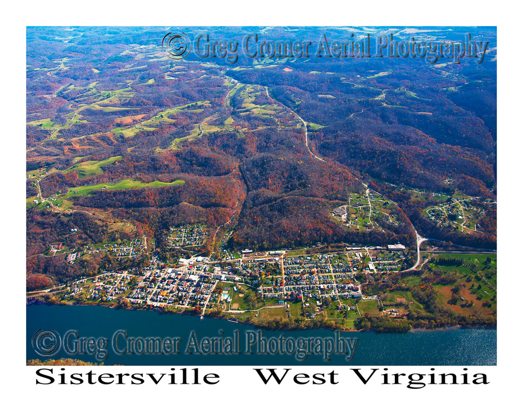 Aerial Photo of Sistersville, West Virginia