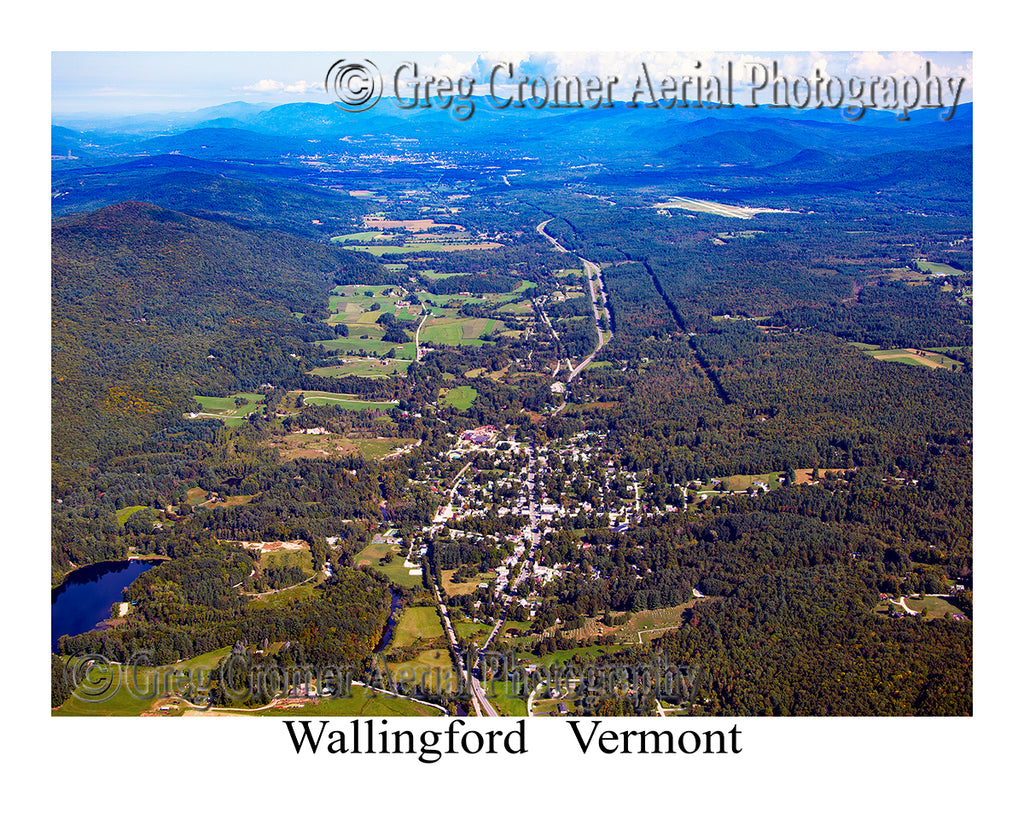 Aerial Photo of Wallingford, Vermont