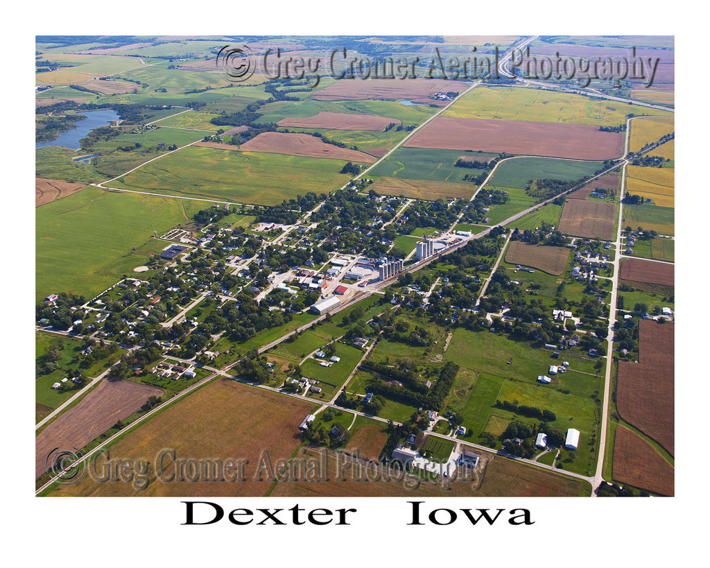 Aerial Photo of Dexter Iowa
