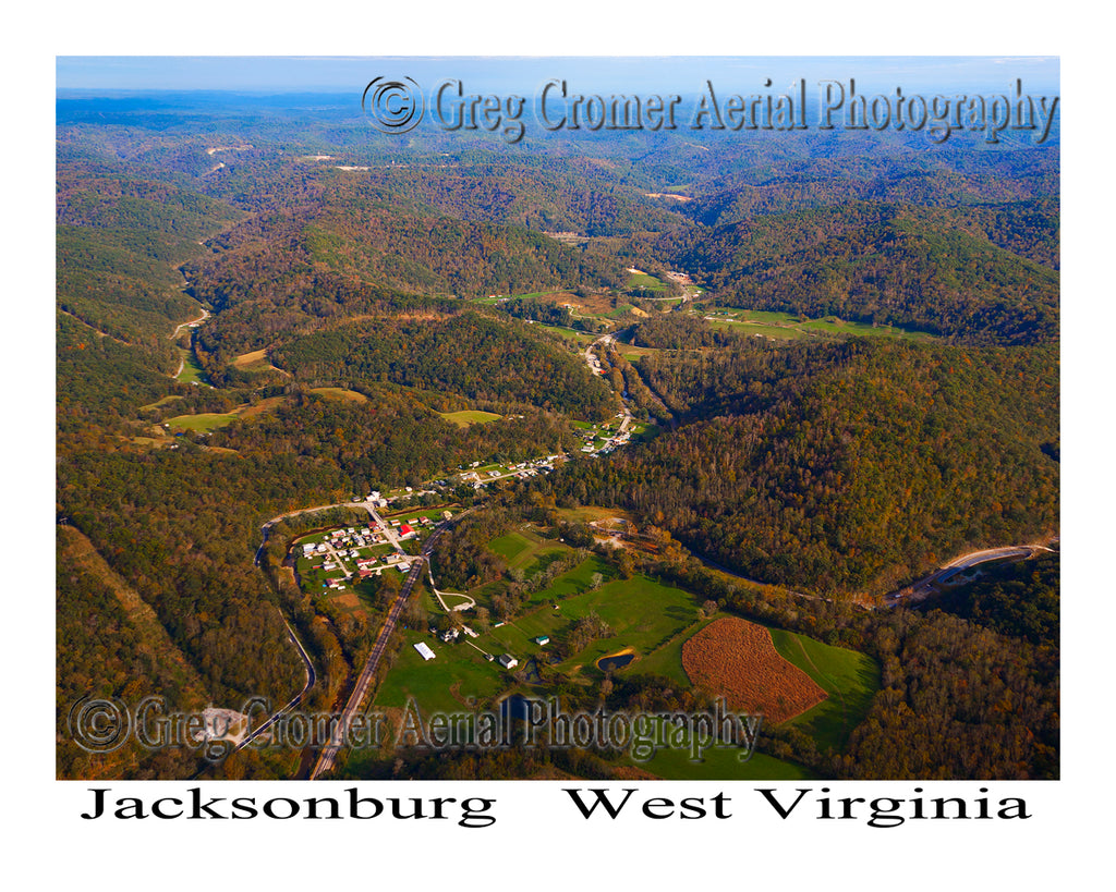 Aerial Photo of Jacksonburg, West Virginia
