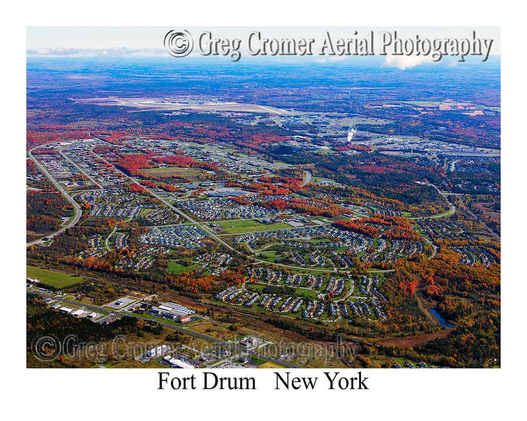 Aerial Photo of Fort Drum, New York