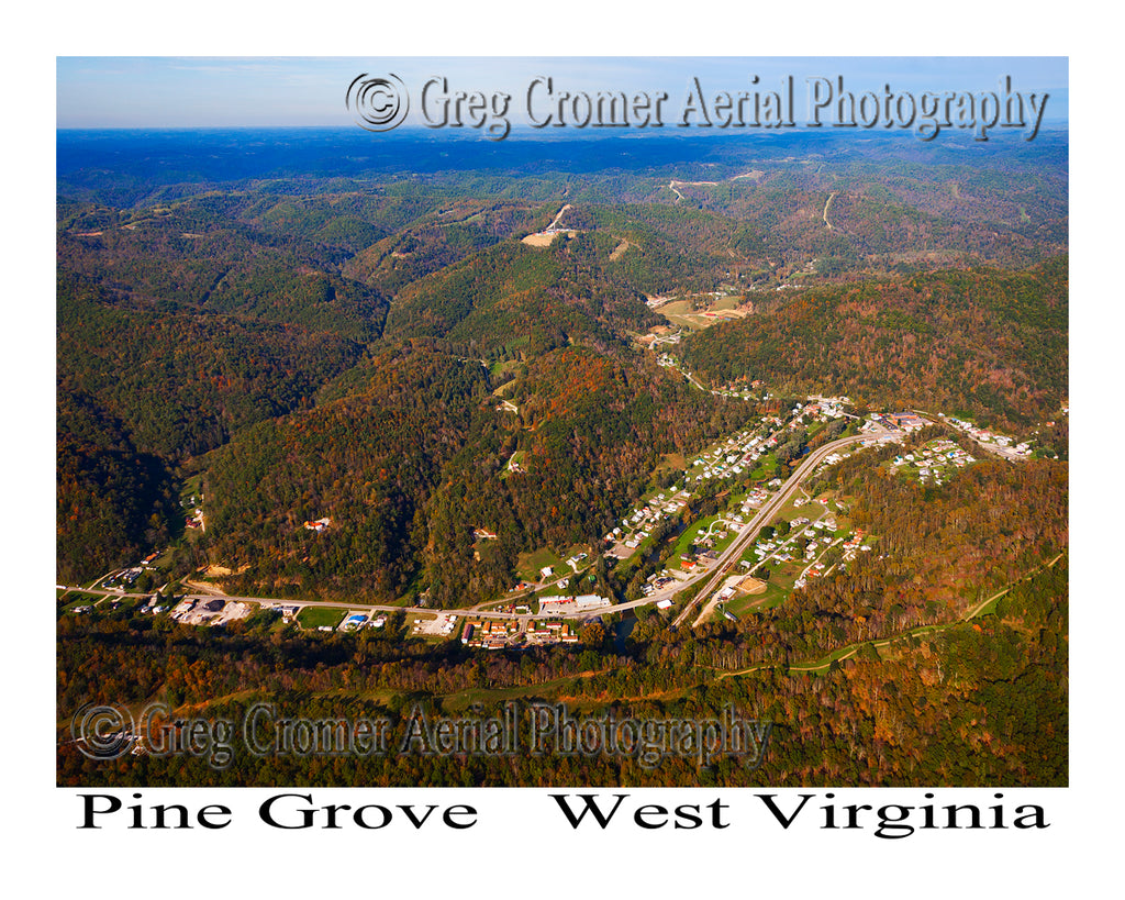 Aerial Photo of Pine Grove, West Virginia