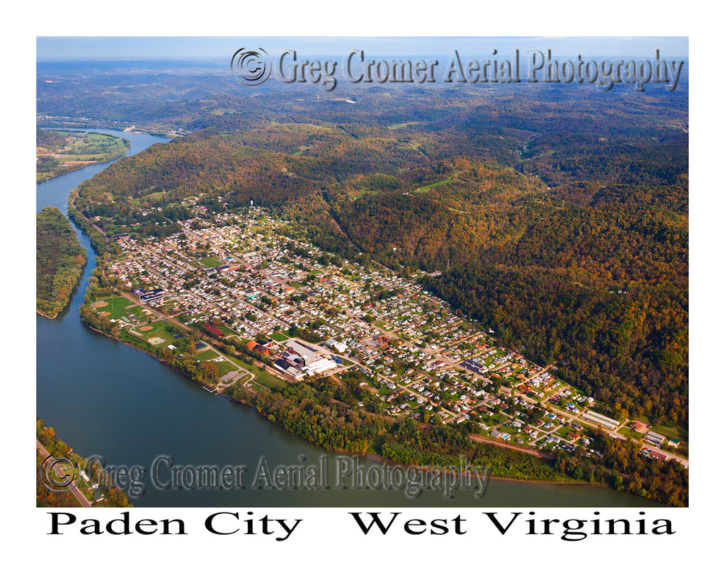 Aerial Photo of Paden City, West Virginia